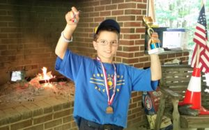 Andrew 3rd Place Raingutter Regatta Win